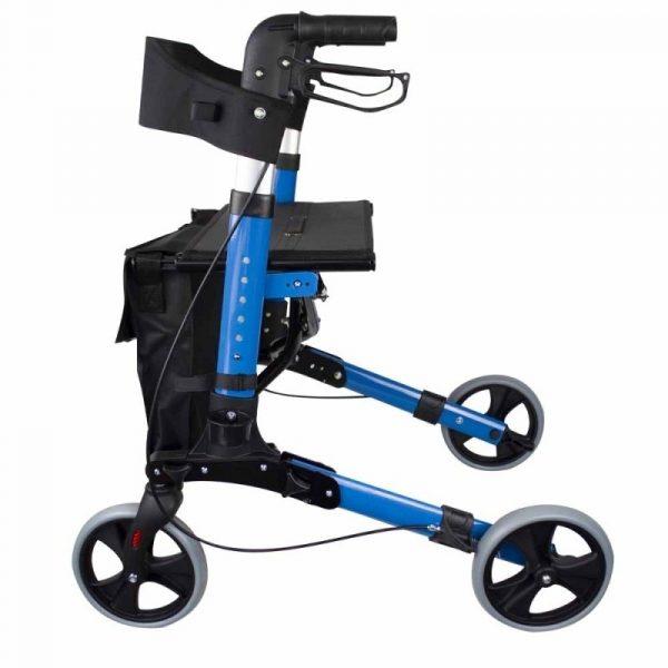 andador 4 ruedas plegable aluminio frenos en manetas asiento y respaldo trajano deluxe mobiclinic 3