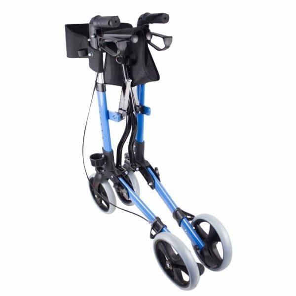 andador 4 ruedas plegable aluminio frenos en manetas asiento y respaldo trajano deluxe mobiclinic 6