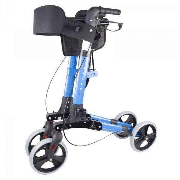 andador 4 ruedas plegable aluminio frenos en manetas asiento y respaldo trajano deluxe mobiclinic 7