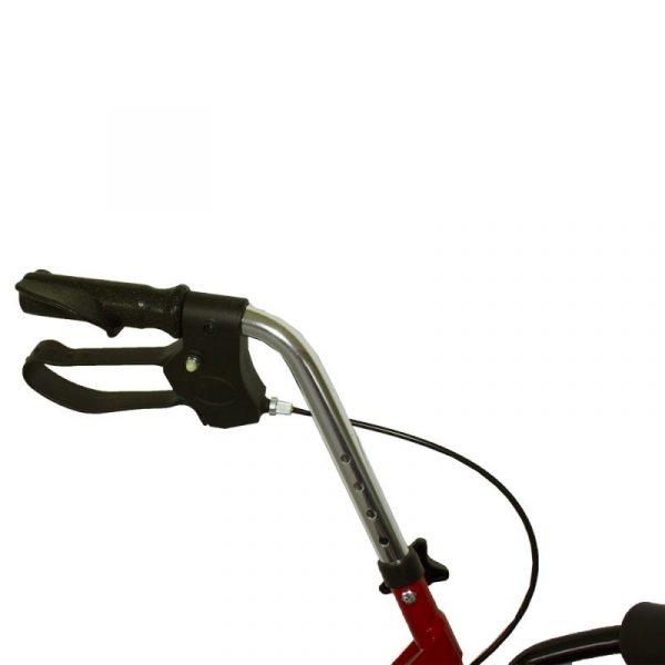 andador aluminio plegable freno en manetas asiento y respaldo cesta para ancianos granate alhambra mobiclinic 4