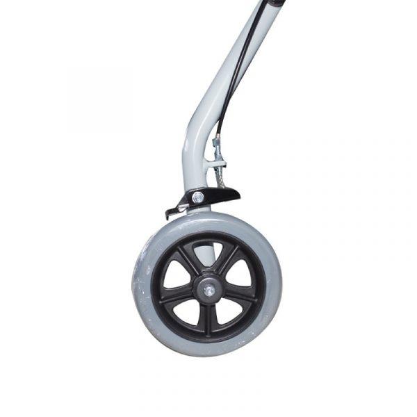 andador para ancianos aluminio plegable frenos en manetas deluxe gris alhambra mobiclinic 2