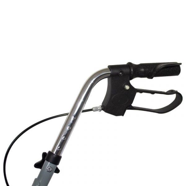 andador para ancianos aluminio plegable frenos en manetas deluxe gris alhambra mobiclinic 3