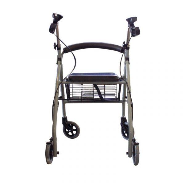 andador para ancianos aluminio plegable frenos en manetas deluxe gris alhambra mobiclinic 4