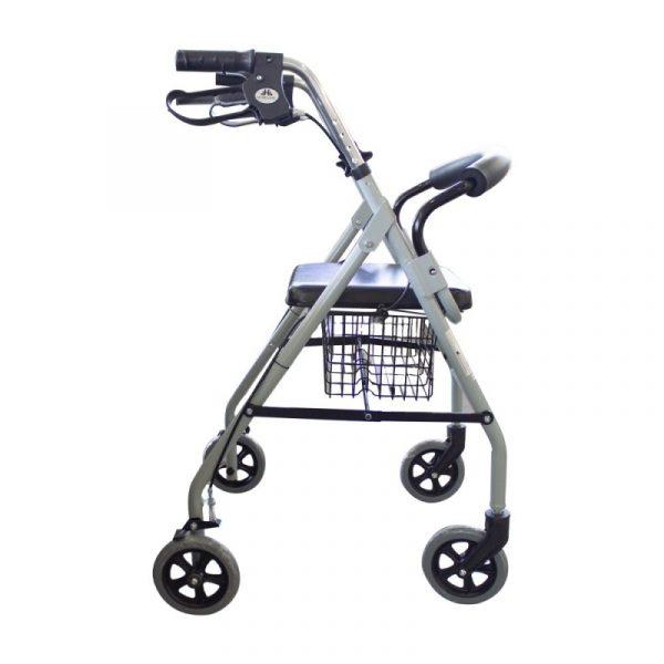 andador para ancianos aluminio plegable frenos en manetas deluxe gris alhambra mobiclinic 5