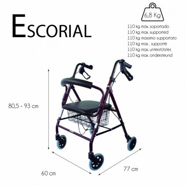 Andador con Frenos ESCORIAL 6