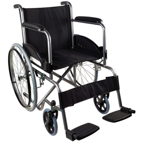 silla de ruedas plegable rueda grande ligera negro alcazaba mobiclinic 3