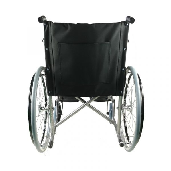 silla de ruedas plegable rueda grande ligera negro alcazaba mobiclinic