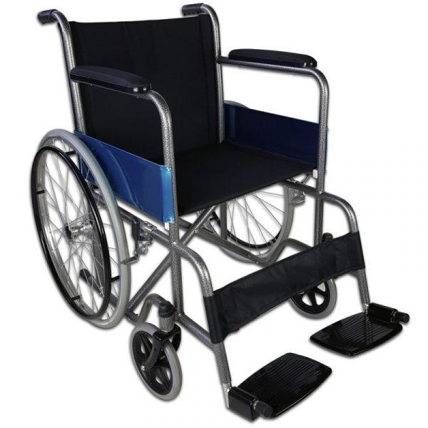 silla de ruedas plegable ruedas grandes ligera ortopedica negro alcazar mobiclinic