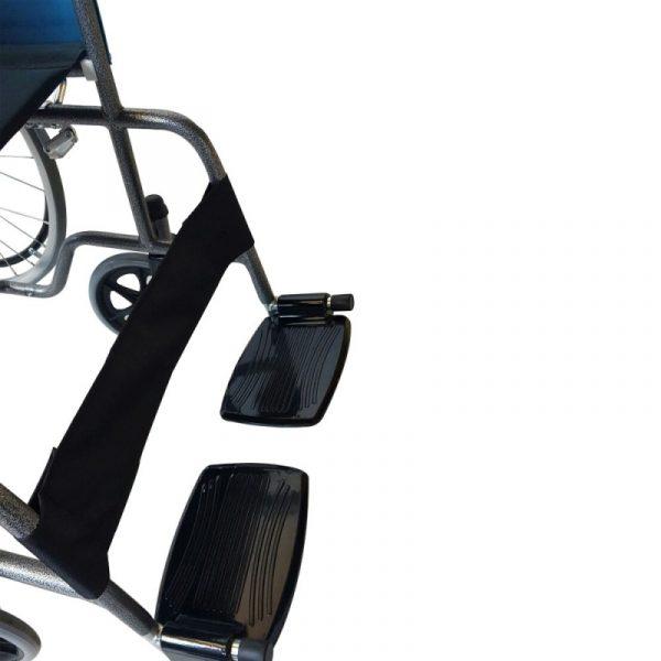 silla de ruedas plegable ruedas grandes ligera ortopedica negro alcazar mobiclinic 7