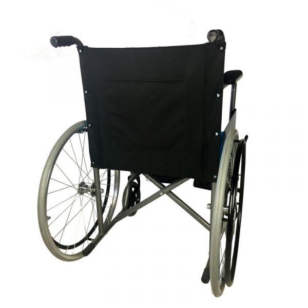 silla de ruedas plegable ruedas grandes ligera ortopedica negro alcazar mobiclinic 8
